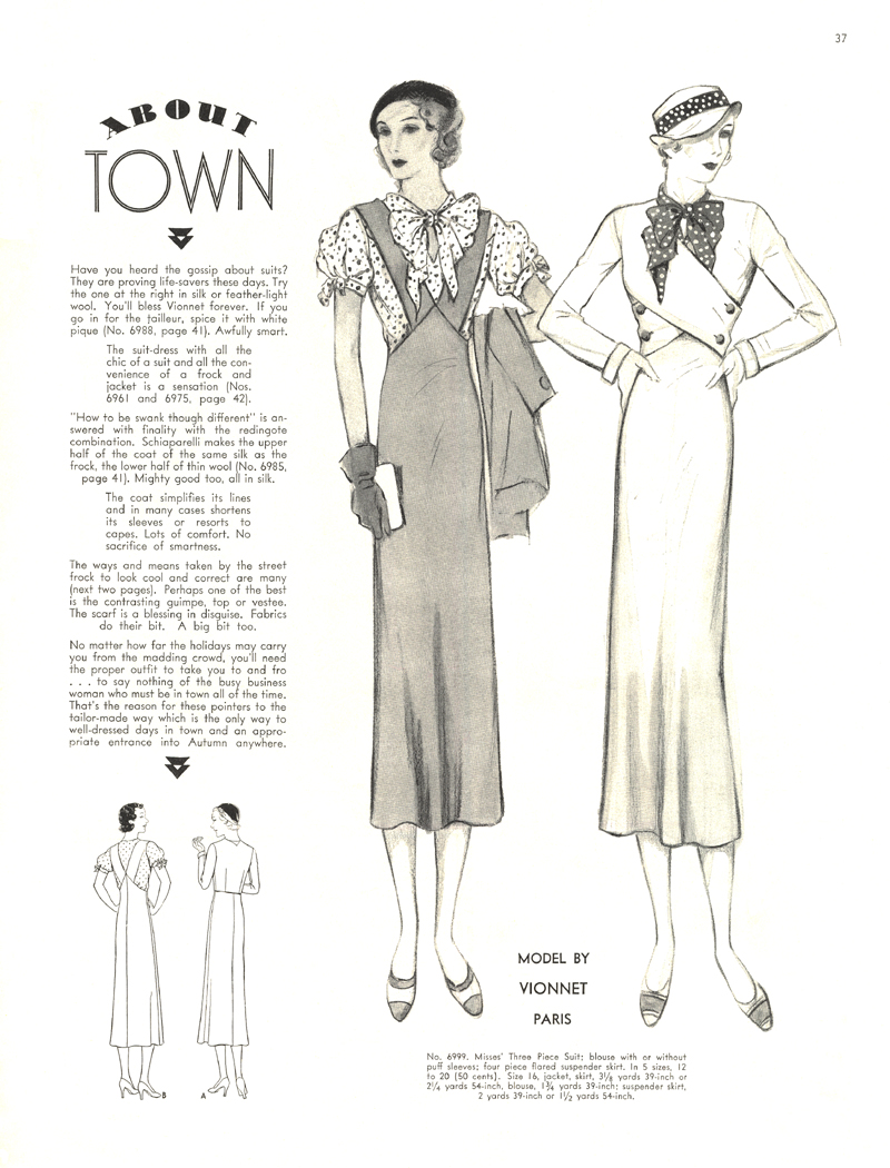 1930s Vionnet illustration from the McCall Fashion Bi-Monthly