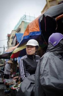 Woman on Bike with White Helmet
