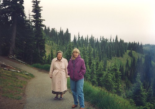 Laura and her mom in Olympia National Park