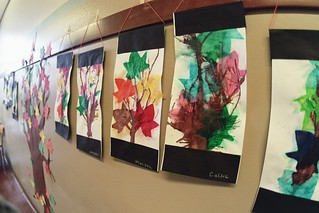 leaf art, tree at grout elementary