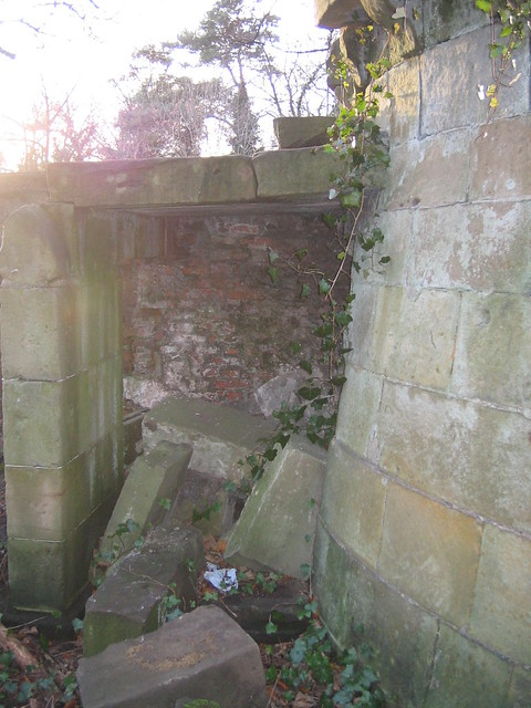 Kirkleatham 18th Century Wall converted into WW2 Gun Nest 3