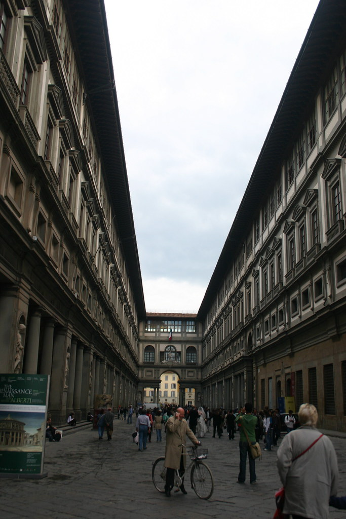 Between the Two Wings of the Galleria Degli Uffizi Looking South by Jonathan, on Flickr