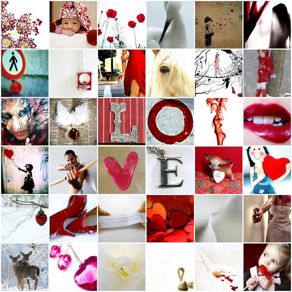 Valentine's Day colours of love passion tenderness