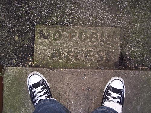 No Public Access by fuzzcaminski, via Flickr