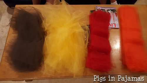 Tulle strips for Turkey Trot Tutus