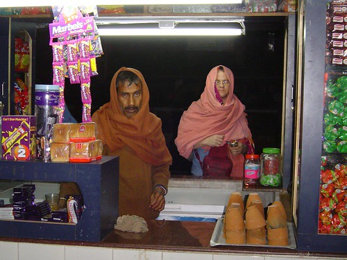 winter night at the tea stall