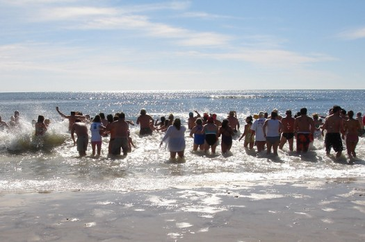 Polar Bear Dip on New Year's Day at the Flora-Bama, Perdido Key AL/FL