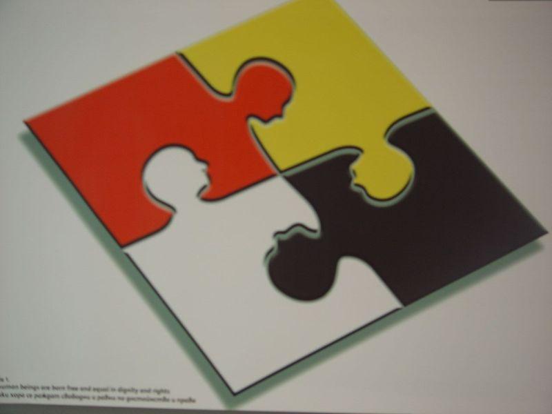 Multiracial jigsaw