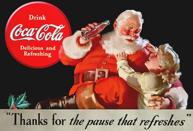 Santa & Child, Coca-Cola - 1938