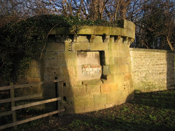Kirkleatham 18th Century Wall converted into WW2 Gun Nest 2