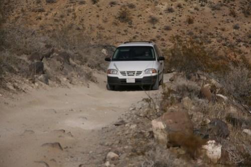 Minivan on Trail