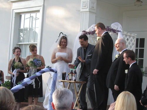 first ever shaking of the wedding cocktail