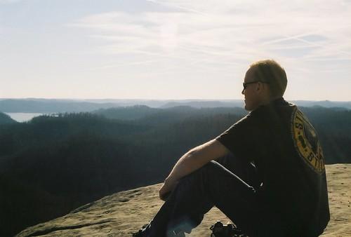 Meditating outside Morehead, KY.