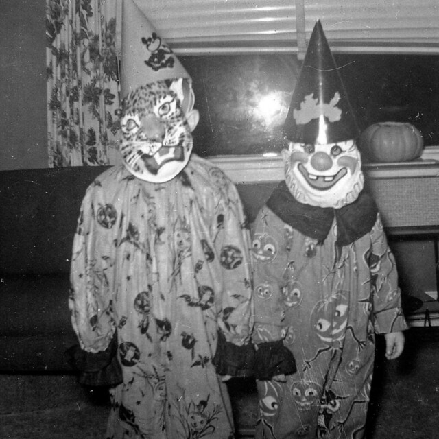 Mike and Bobby, Halloween, 1956