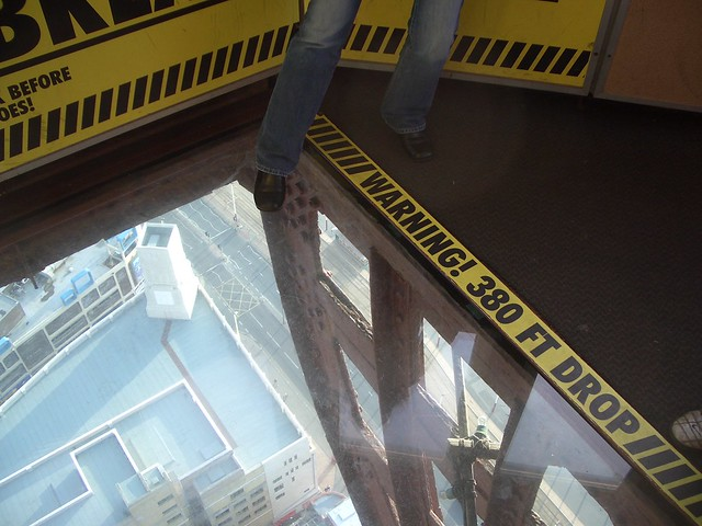 Warning 380 Foot Drop From The Blackpool Tower Flickr