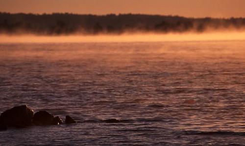 Georgian Bay dawn blue by gnawledge wurker