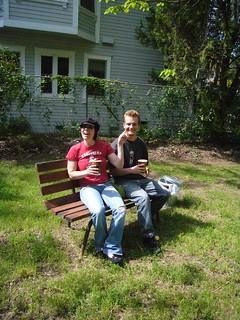 Sacramento hipsters enjoying Corner Park, Sacramento