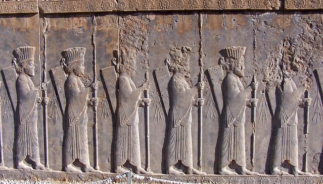 Friso del palacio de Dario en Persépolis