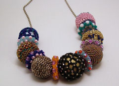Beaded Bead Sampler necklace