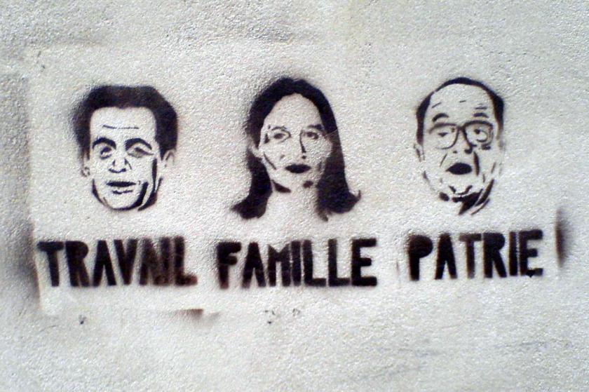 Election stencils in Poitiers