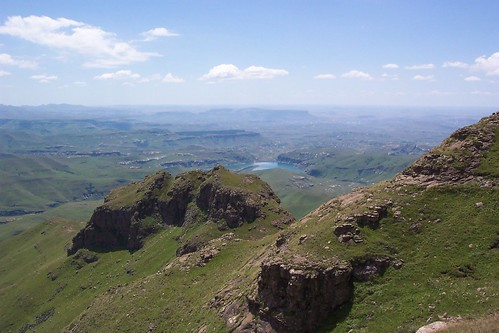 Looking down on the Tugela river