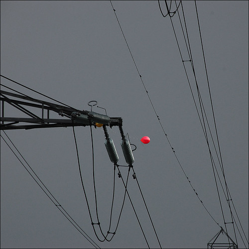 Two red balloons