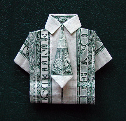 Origami Money Shirt With Tie Flickr Photo Sharing