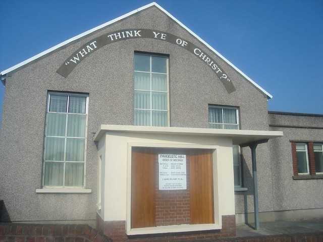 Evangelistic Hall, Llanelli, with inscription: