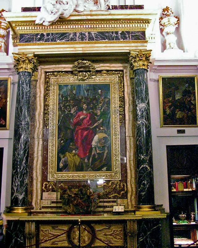 El expolio pintura del Greco en Sacristia de Catedral de Santa Maria de Toledo 02