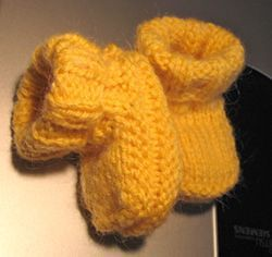 yellow baby boots