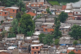 Favela among trees