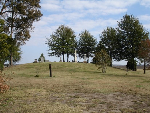 Cemetery on Indian Mound at Doro Plantation, Near Beulah MS