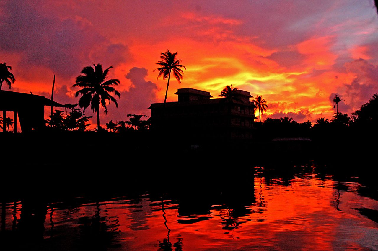 Red Sunset in Kerala