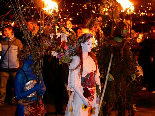 The May Queen and Horned God at Fire Point