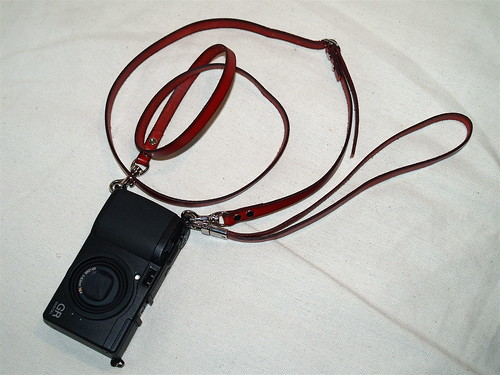 Handmade leather straps for GR DIGITAL