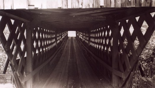 View Inside Horton Mill Covered Bridge, Blount County AL