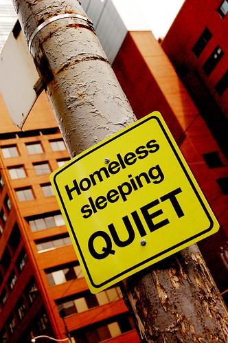 Homeless Sleeping Quiet. Victoria & Queen, St. Mike's Hospital 5