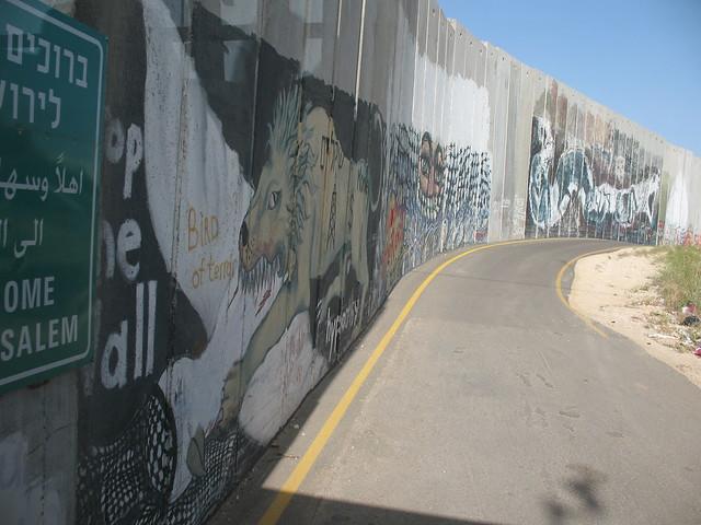 The devouring lion: graffiti near Bethlehem checkpoint