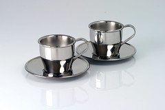 Insulated steel espresso cups