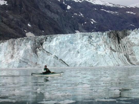 Kayak in Glacier Bay, Alaska