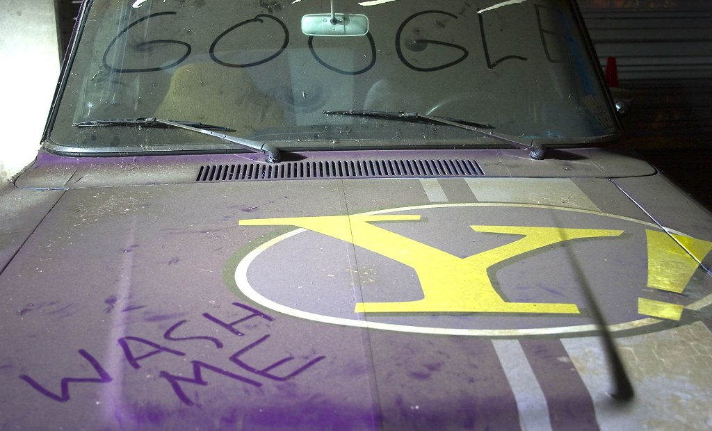 Google, Er, Yahoo Car Needs a Bath
