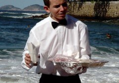 Waiter on Copacabana Beach