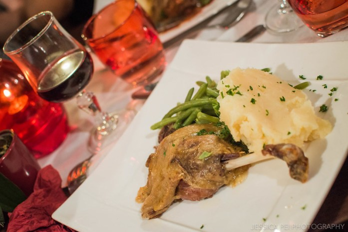 French Bistro Dinner Duck Confit