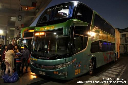 Bus Norte - Viña del Mar - Marcopolo Paradiso 1800 DD / Mercedes Benz (FKRX18)