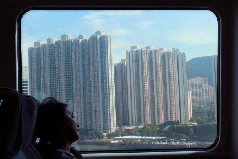 lang mellemlanding i Hong Kong