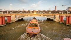 Barge under #Blackfriars Bridge
