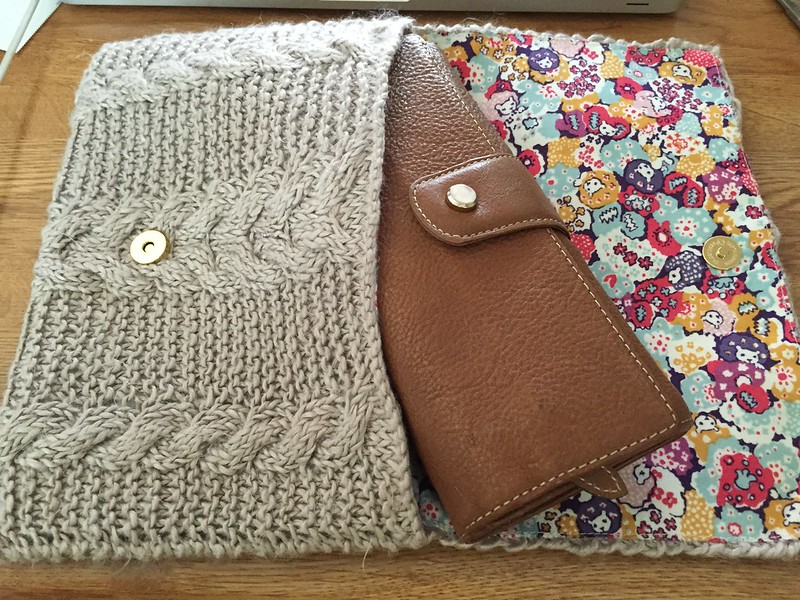 Cable clutch bag - finished!!!