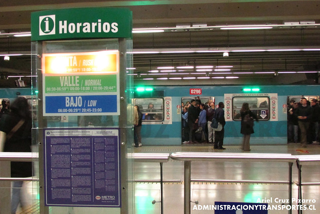 Metro de Santiago - Alsthom NS74 P3029 - Quinta Normal (L5)