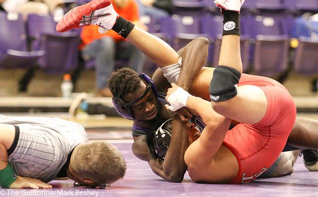 133- Paul Selman, MSU, won by major decision over Dean Arevalo, 10-1 (6-6)