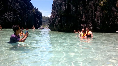 La playa escondida en el archipiélago Bacuit